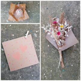 Geburtstag Muttertag Trockenblumen