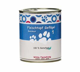 Hundefutter Wittis Reinfleischdose Hund - Geflügel pur