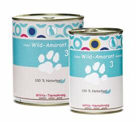 Hundefutter Wittis Naturkost Huhn - Wild - Amarant - Gemüse