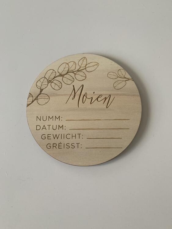 """Carte de naissance """"Moien"""""""