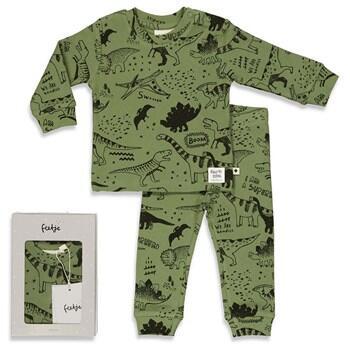 Pyjama 2 pièces DINOSAURE FEETJE en COTON BIO du 74 cm au 128 cm