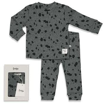 Pyjama 2 pièces noir FEETJE en COTON BIO du 98cm au 128cm