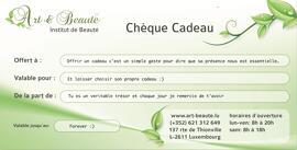 Geschenkgutscheine Bon Cadeau Art et Beaute