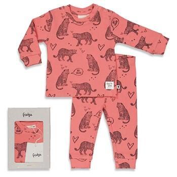 Pyjama 2 pièces rose pink FEETJE COTON BIO du 74 cm au 128 cm