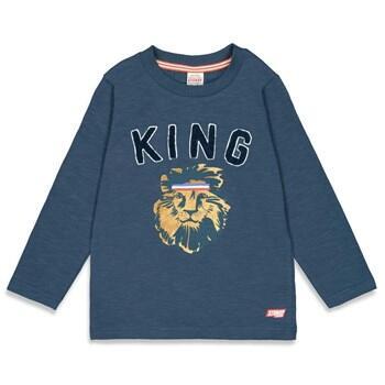 Tee shirt bleu motif Lion du 92 cm au 140 STURDY