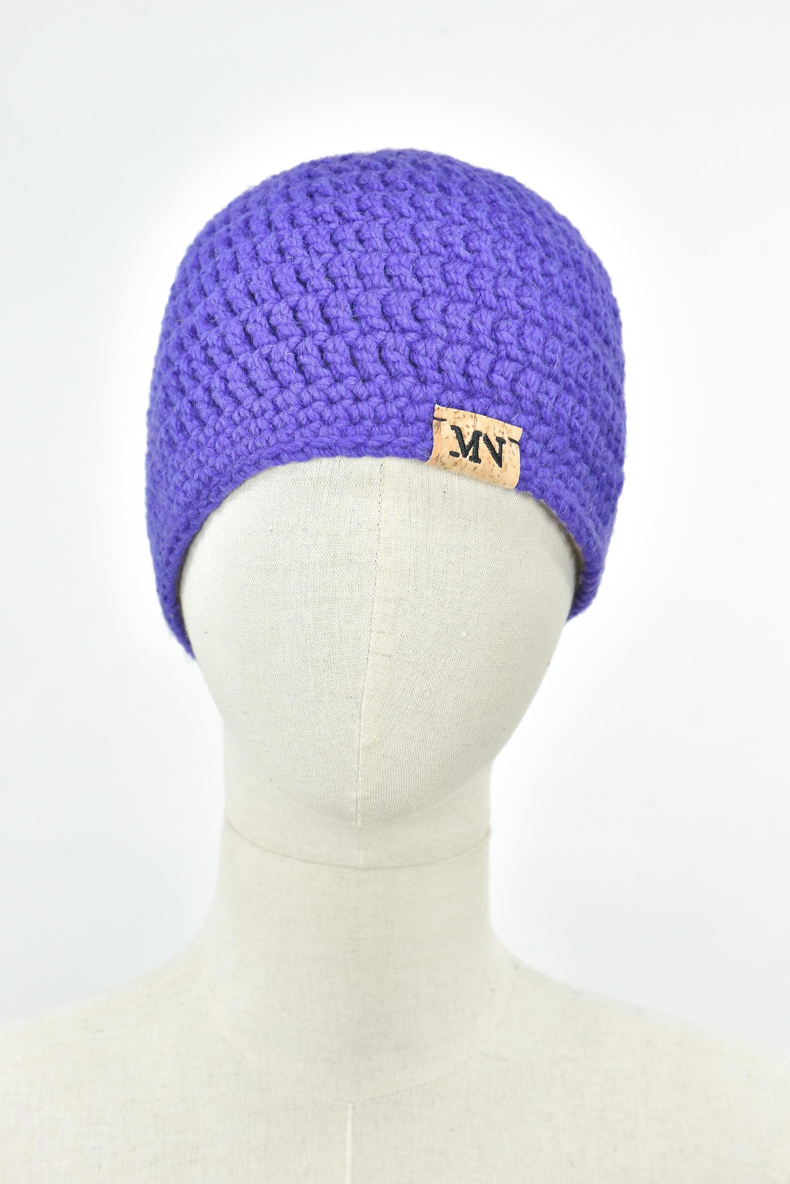 Bonnet Long MN - Violet 100% Laine
