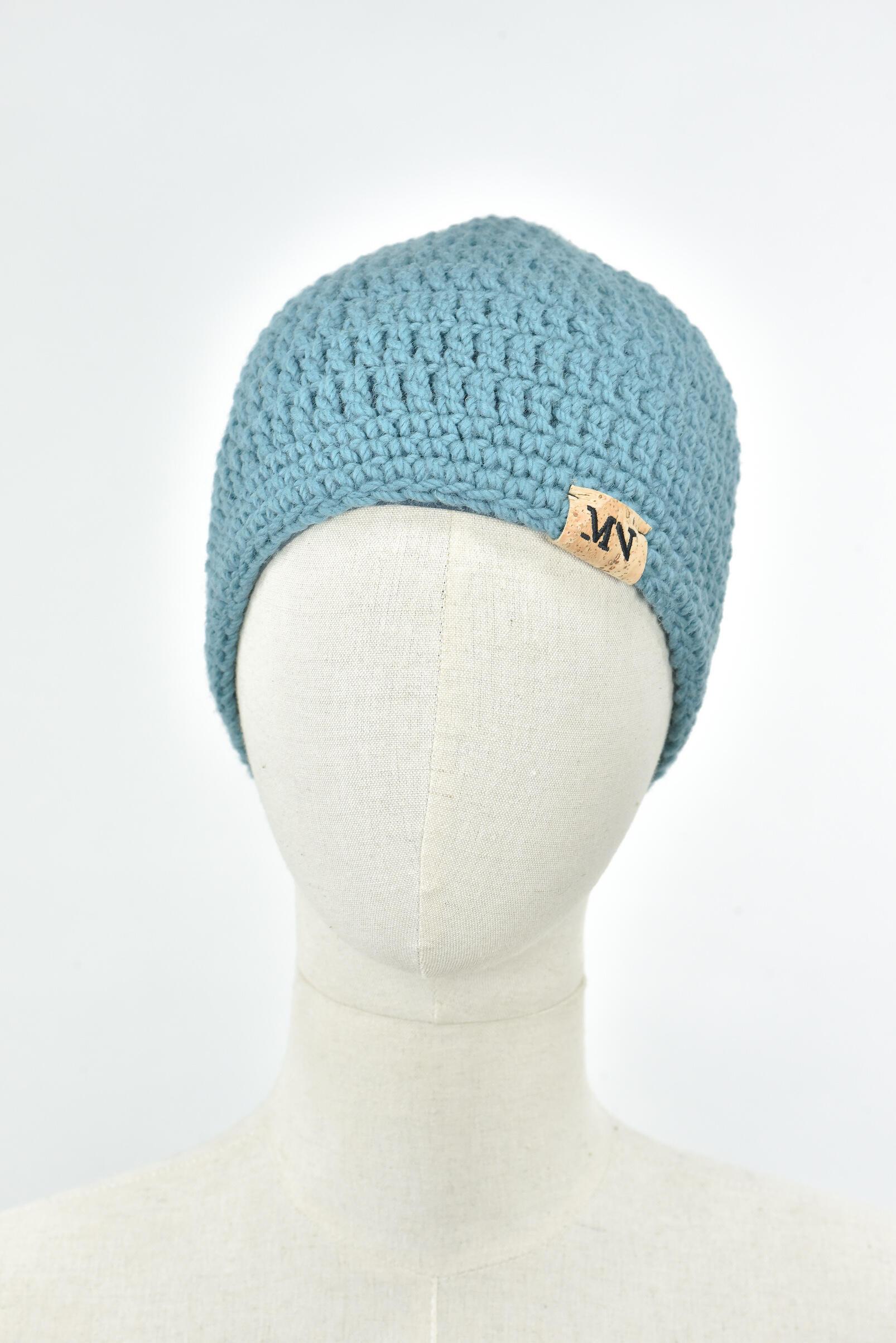 Bonnet Long MN - Bleu Clair 100% Laine