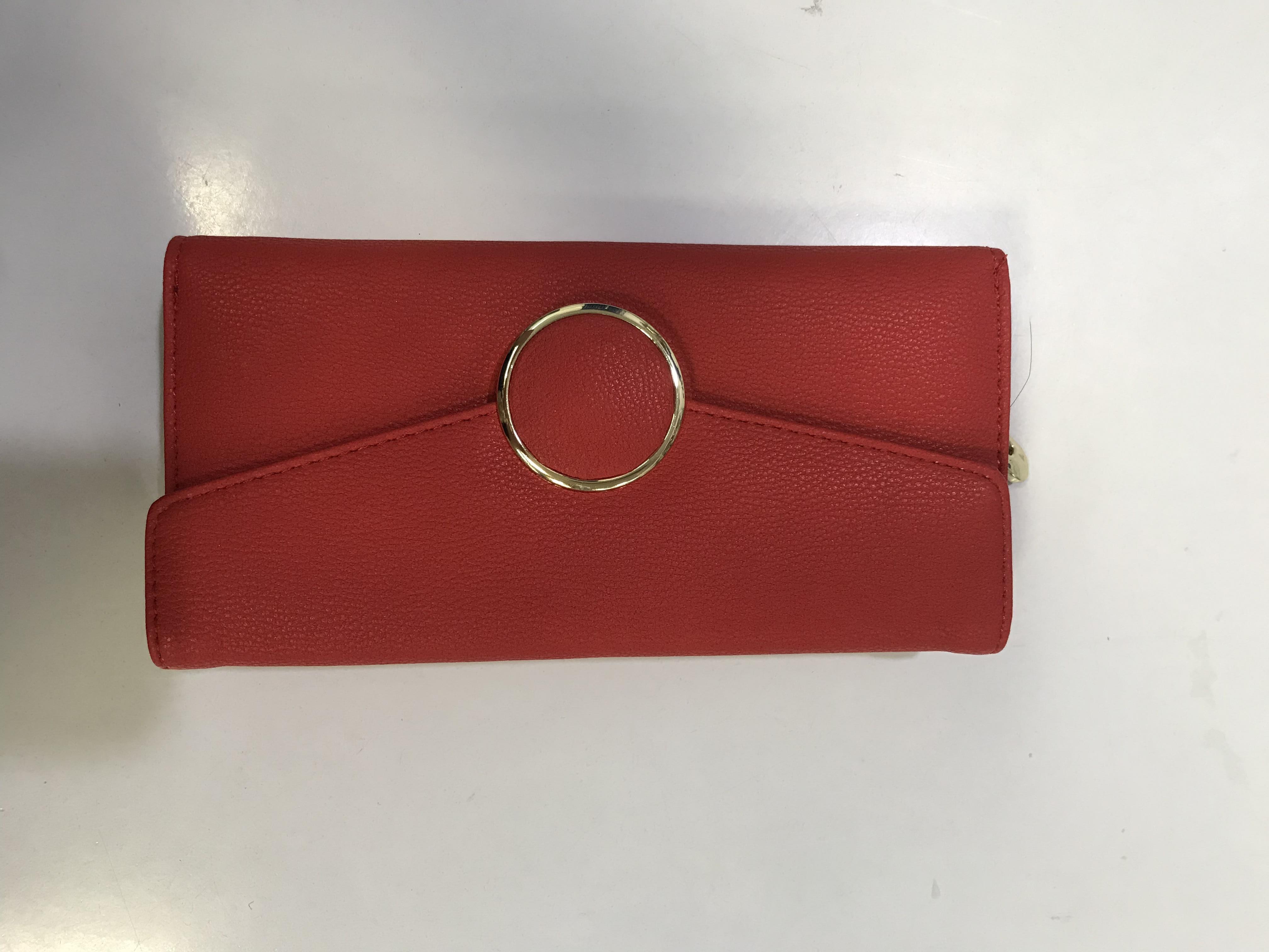 Grand portefeuille rouge avec dorures