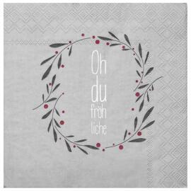 Serviettes de table en papier Décorations de Noël et saisonnières Räder