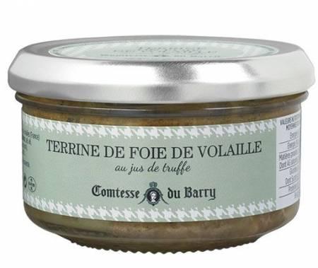 Terrine de foie de volaille au jus de truffe - 140g