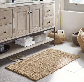 Tapis de bain et fonds de baignoire Paillassons Petits tapis Loberon