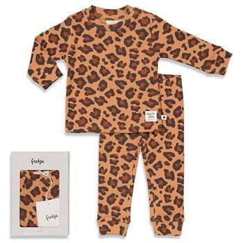 Pyjama 2 pièces léopard FEETJE en COTON BIO du 98 au 128 cm
