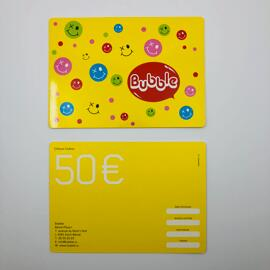 Cartes et chèques cadeaux Bubble