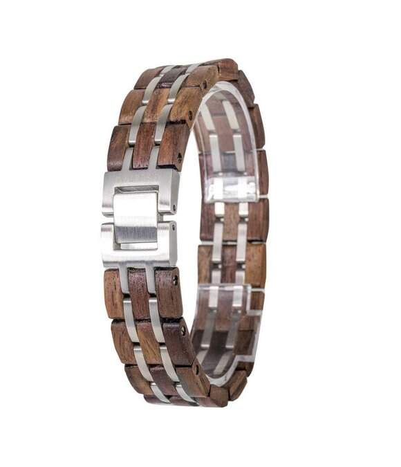 Element Armband Waidzeit Walnuss silberfarben EL-W02