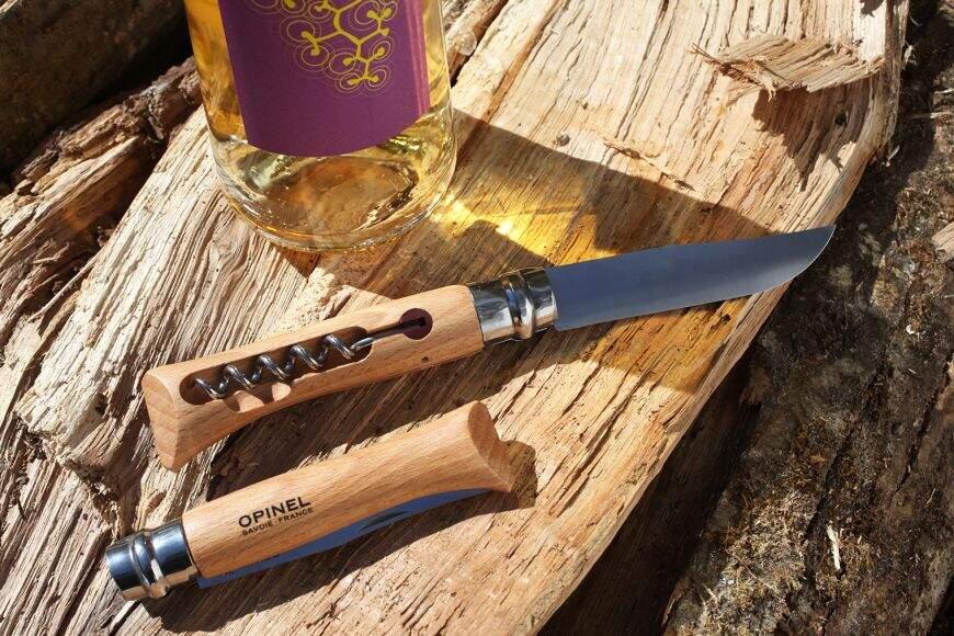 Opinel Messer Korkenzieher N°10 Edelstahl Mit Box Hergestellt IN Frankreich