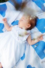 Couvertures d'emmaillotage et couvertures pour bébés Nuvola Baby
