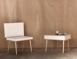 Sessel ohne Armlehnen Julie Conrad Design Studio
