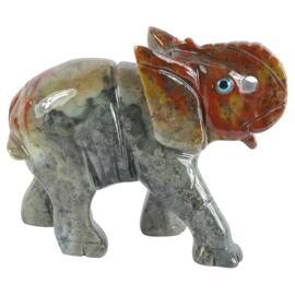 Sammlerstücke Figuren zur Dekoration Speckstein Elefant