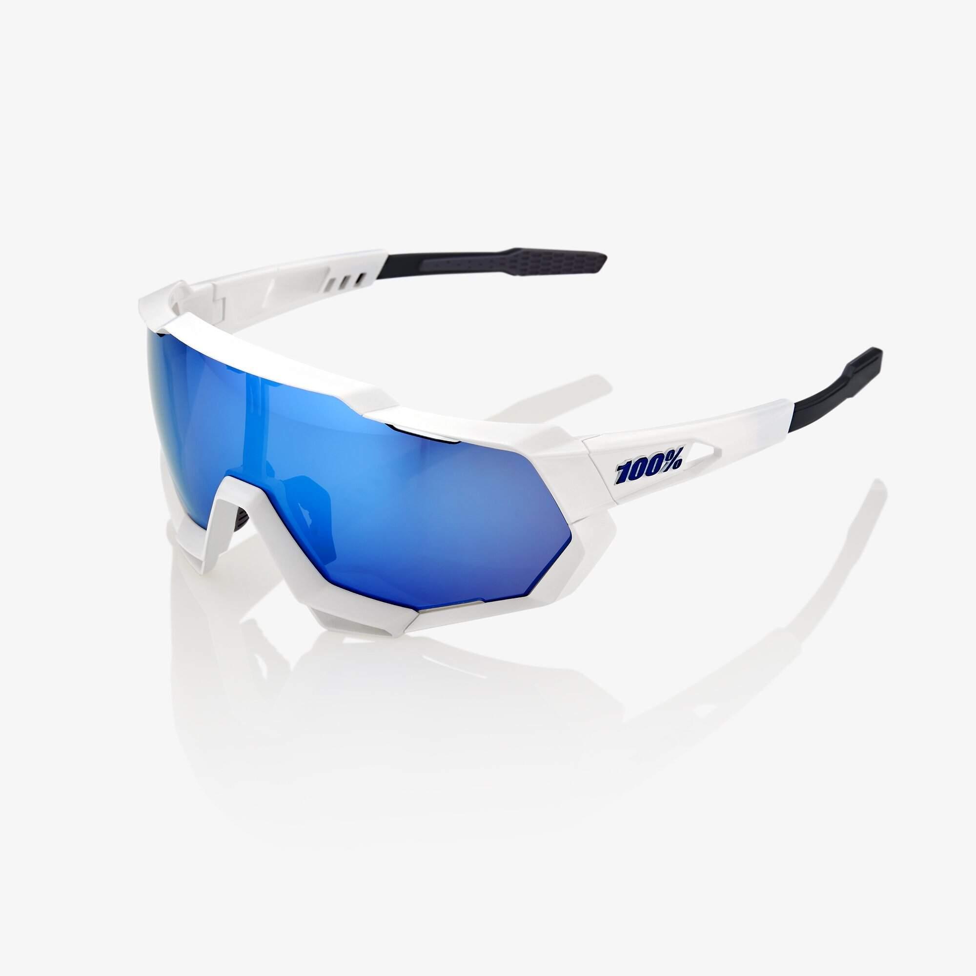 Speedtrap - Blanc mat - Lentille bleue Hiper