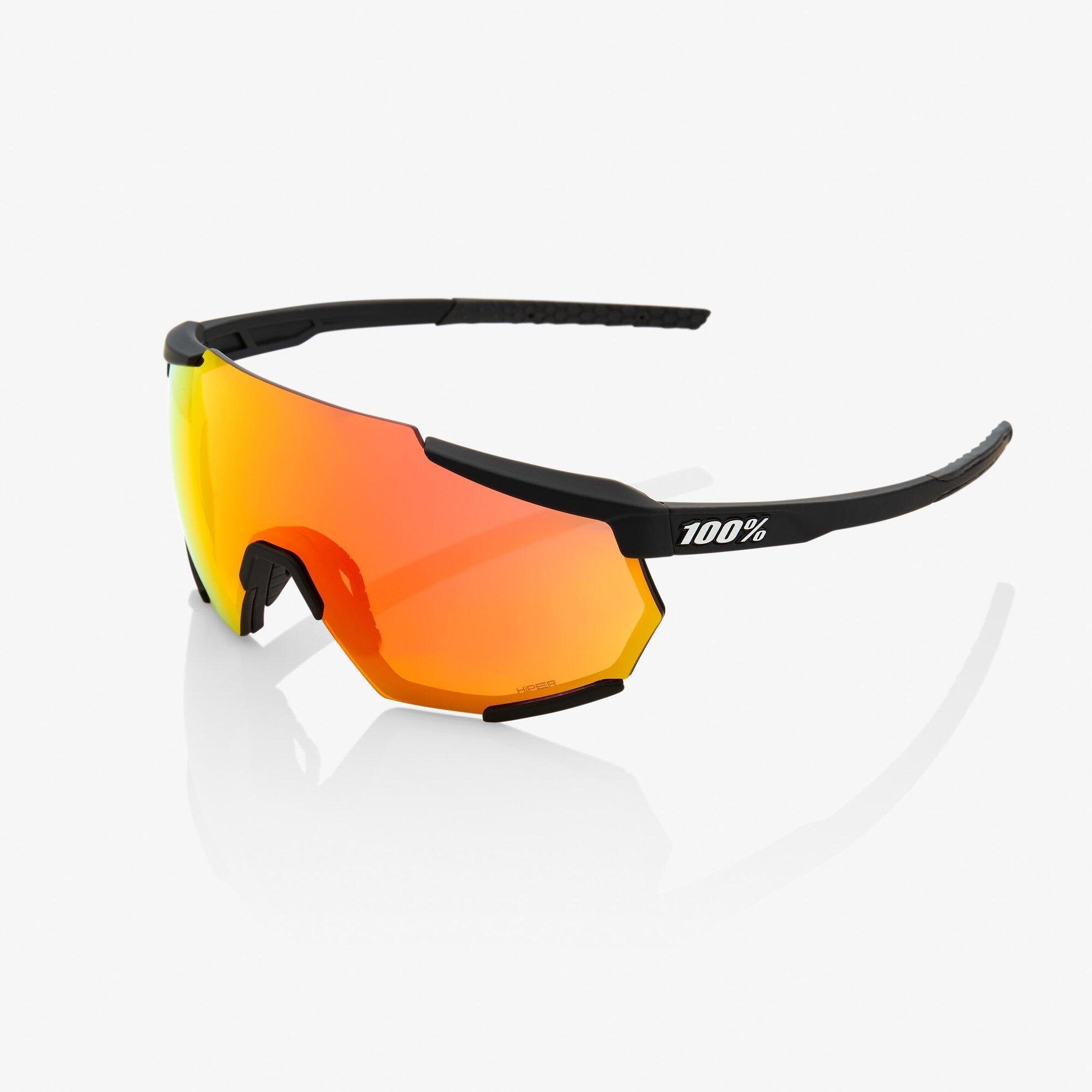 Racetrap - Soft Tact Black - Hiper Red Lens