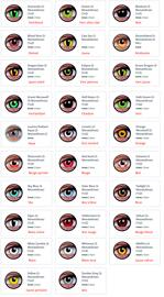Articles de fête Kits d'articles de fête Costumes et maquillage de scène Lentilles de contact Effets spéciaux pour déguisements ColourVue
