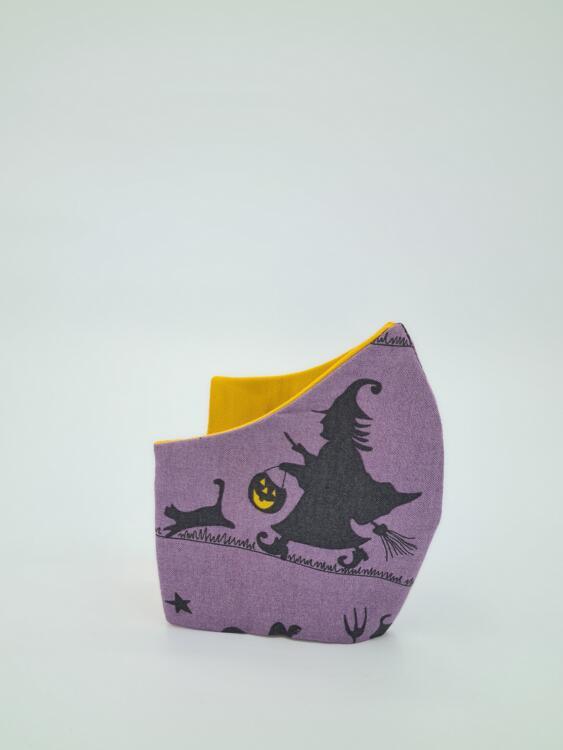 Wiederverwendbare Maske Halloween-Violett