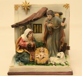 Religiöse Artikel Krippen Figuren zur Dekoration Edelsteinhandel Schmit