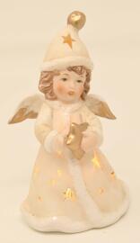 Offices religieux et cérémonies Figurines Décorations de Noël et saisonnières Articles de collection Engel mit LED Leuchte