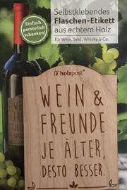 Etiketten für Lebensmittel und Getränke Holzpost