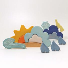 Interaktives Spielzeug ABC-Lernspielzeuge Sortier-, Stapel- & Steckspielzeug Holzbausteine Grimm´s