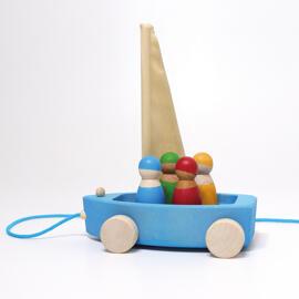 Baby-Aktiv-Spielzeug Interaktives Spielzeug Holzbausteine Grimm´s