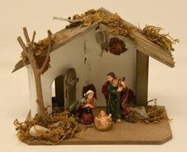 Objets religieux Loisirs et arts créatifs Crèches de Noël Figurines Weihnachtskrippe mit Ledleuchte