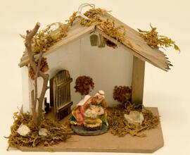 Loisirs créatifs Crèches de Noël Figurines Weihnachtskrippe mit Ledleuchte