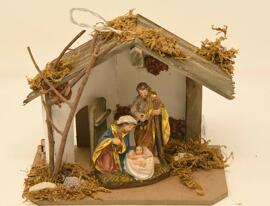 Loisirs créatifs Crèches de Noël Figurines Objets religieux Weihnachtskrippe mit Ledleuchte
