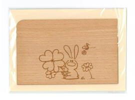Grußkarten Holzpost