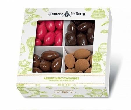 Assortiment d'Amandes enrobées de chocolat