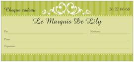 Geschenkgutscheine LE MARQUIS DE LILY
