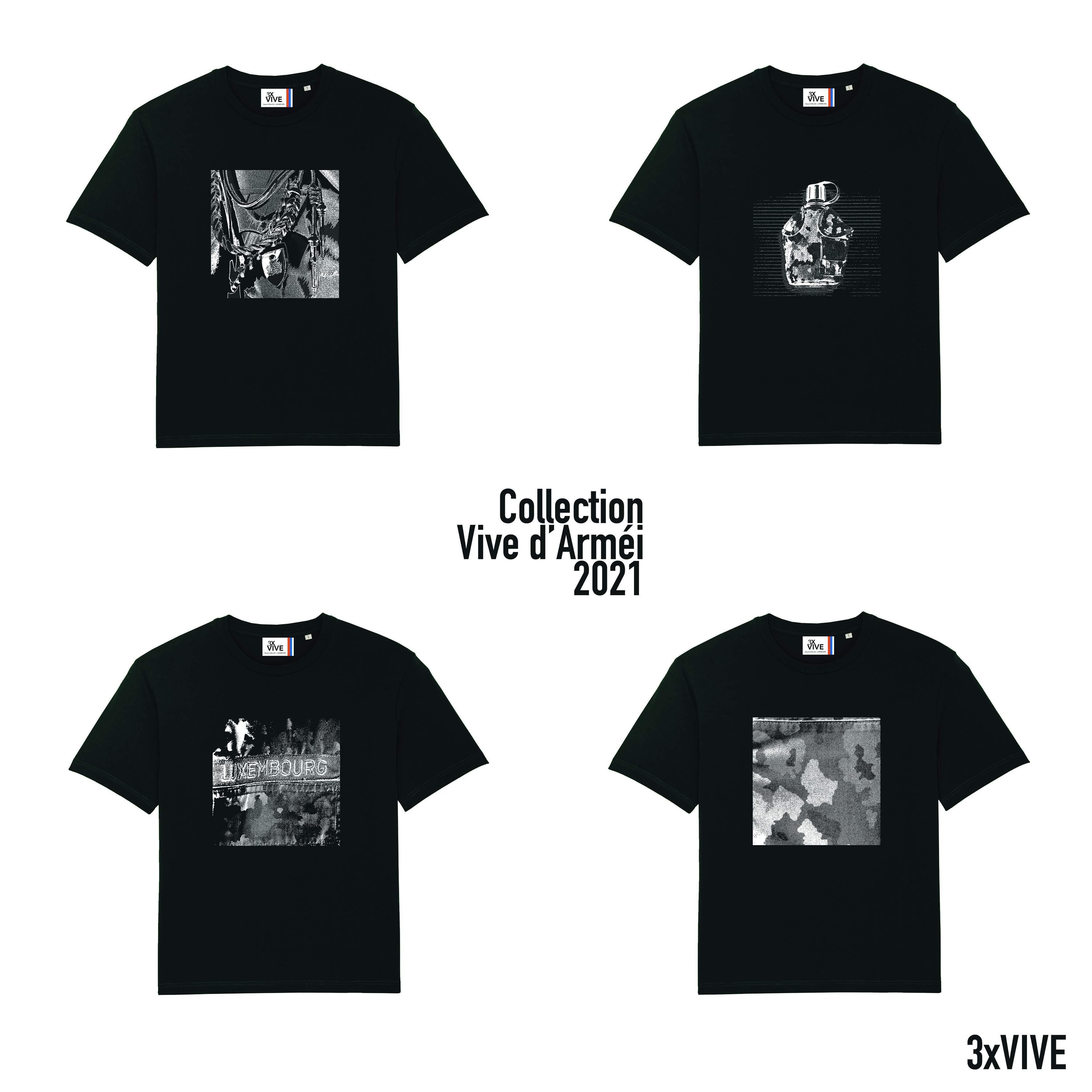 Collection Vive d'Arméi lot de 4 T-shirts