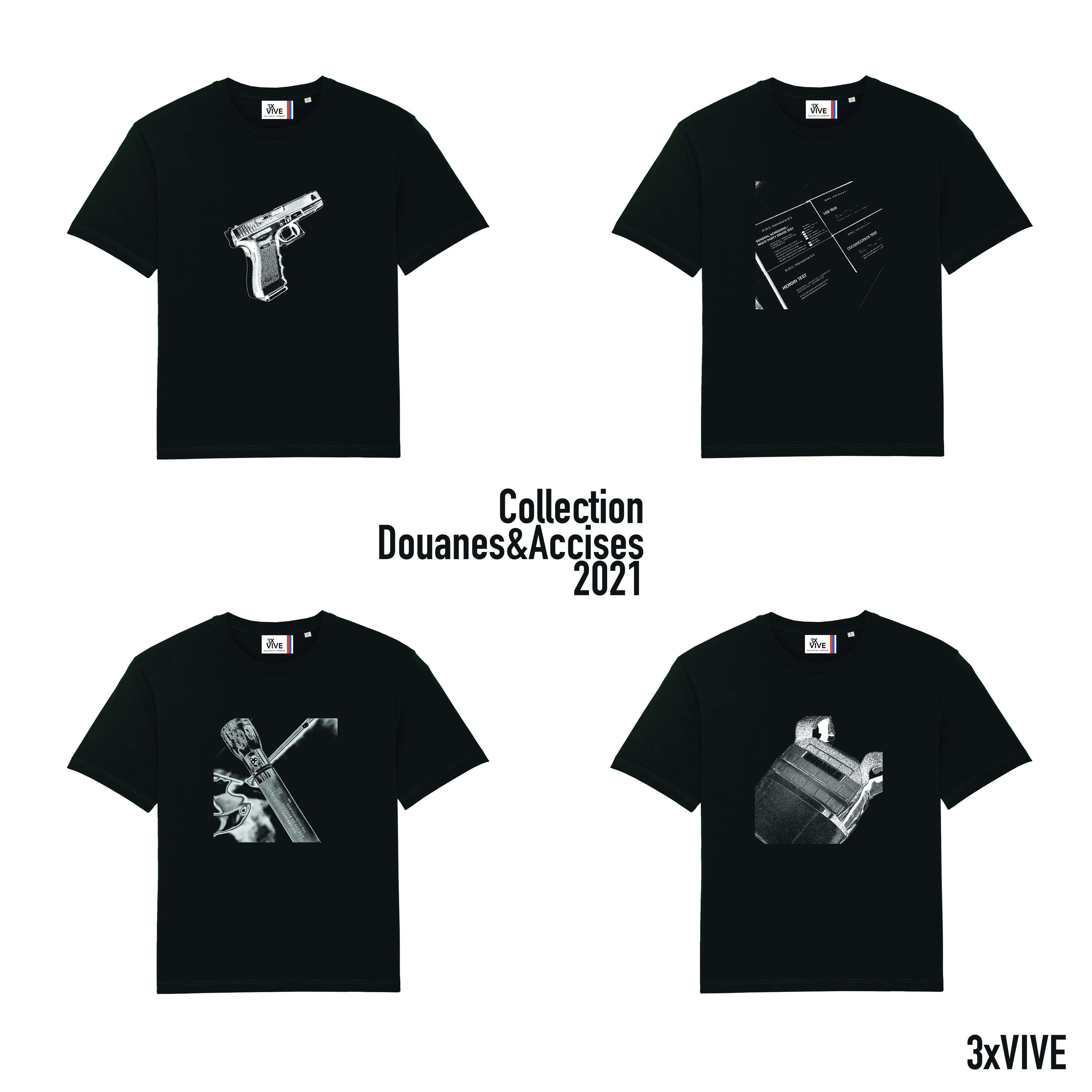 Collection Douanes&Accises lot de 4 T-shirts