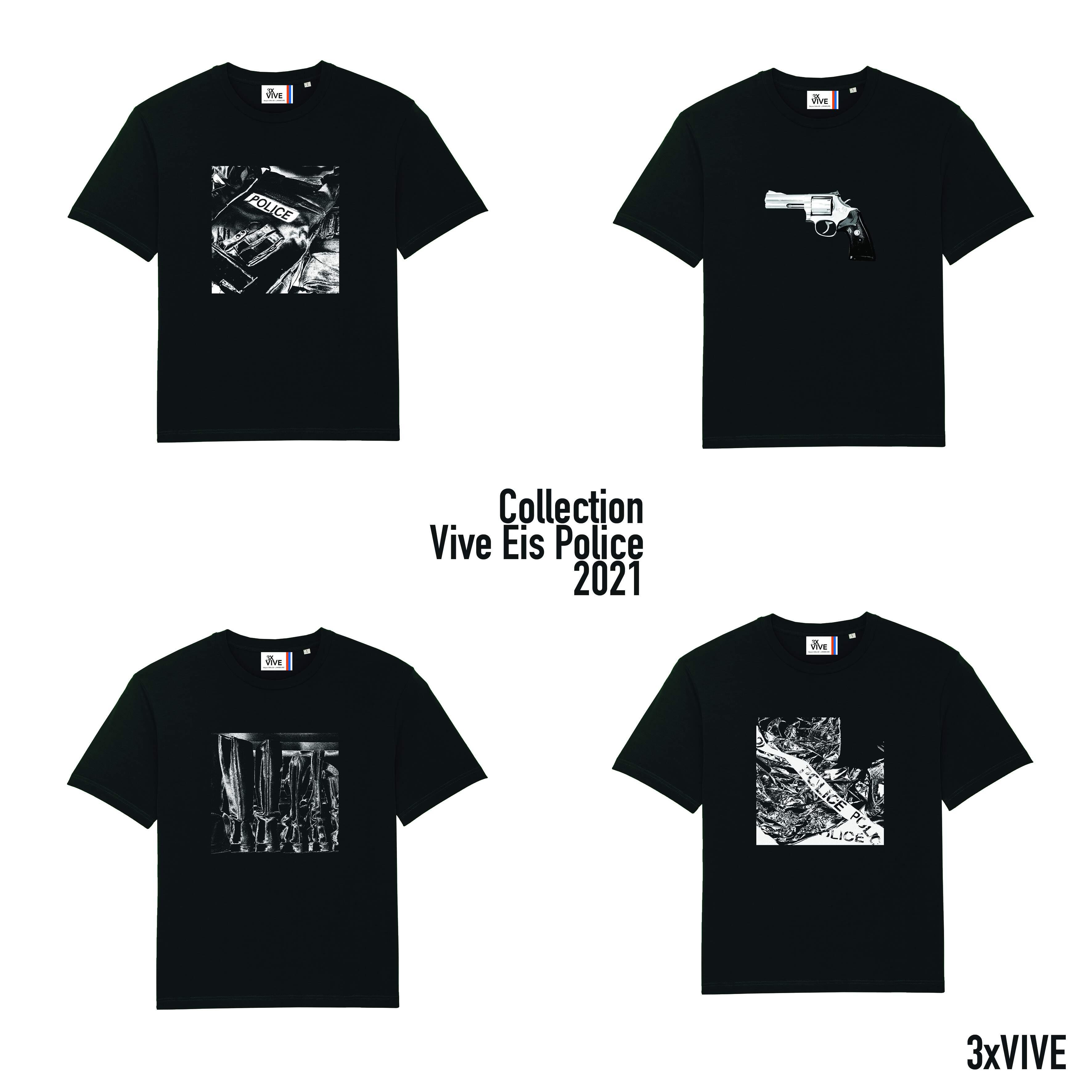 Collection Vive Eis Police lot de 4 T-shirts