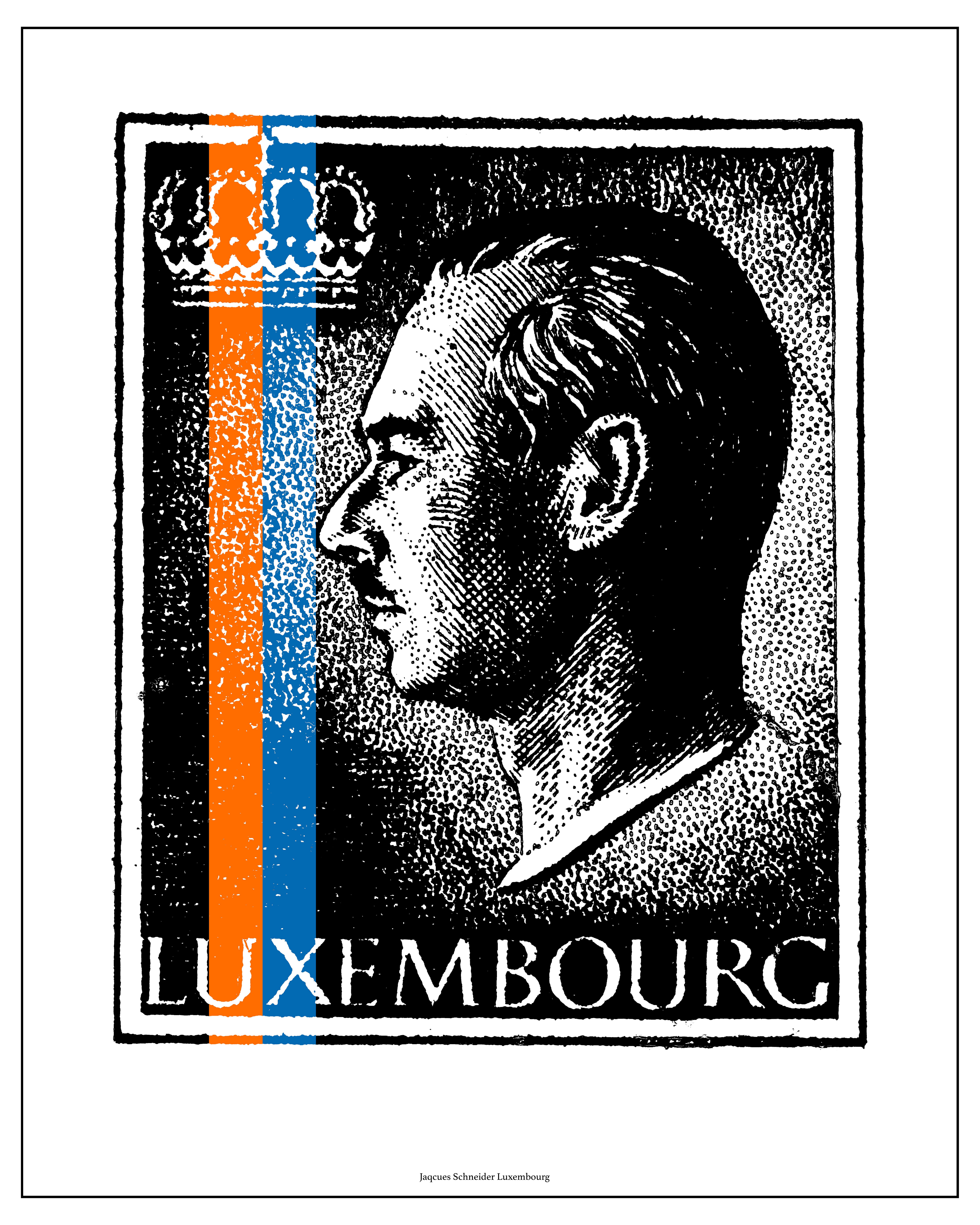 Portrait Hommage Centième anniversaire de la naissance de Son Altesse Royale le Grand-Duc Jean