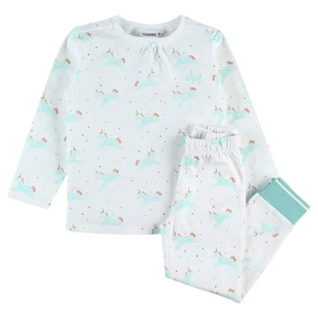 Pyjama 2 pièces motif licorne en coton NOUKIES du 5 ans au 8 ans Z137141