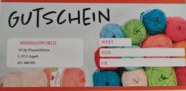Matériaux pour loisirs créatifs Bons cadeaux minimasworld,Geschenkgutschein
