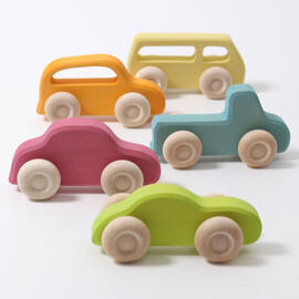 Spielzeugautos Holzbausteine Grimm´s