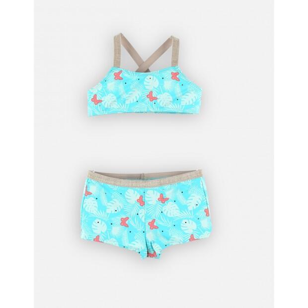 Bikini turquoise du 4 ans au 12 ans Noukies A902600
