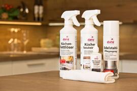 Haushaltsreiniger Reinigungstücher Glas- & Oberflächenreiniger Backofen- & Grillreiniger dk-danz küchen