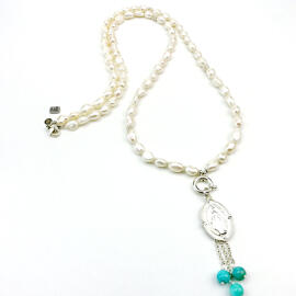 Halsketten Damenschmuck Edelsteinschmuck Handgefertigt Perlenschmuck MB-DESIGN Schmuckherstellung