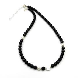 Perlenschmuck Edelsteinschmuck Handgefertigt Halsketten Damenschmuck Halsketten MB-DESIGN Schmuckherstellung