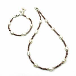 Perlenschmuck Handgefertigt Armbänder Schmucksets Armbänder Halsketten Damenschmuck MB-DESIGN Schmuckherstellung