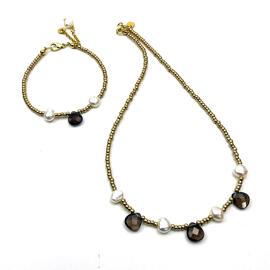 Perlenschmuck Handgefertigt Armbänder Halsketten Schmucksets Damenschmuck MB-DESIGN Schmuckherstellung